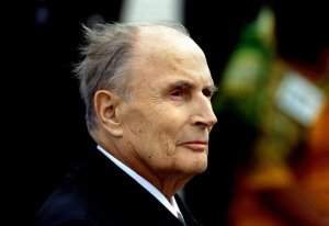 French President Francois Mitterrand seen, September 20th..